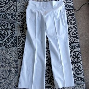 NWT Tahari white slacks 14